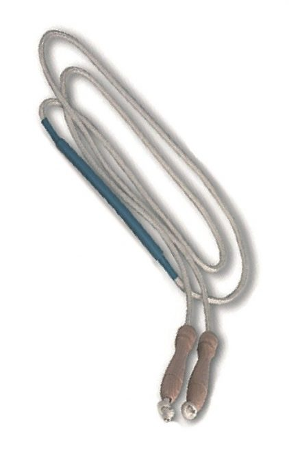 Corda con maniglie salto ingrossamento centrale