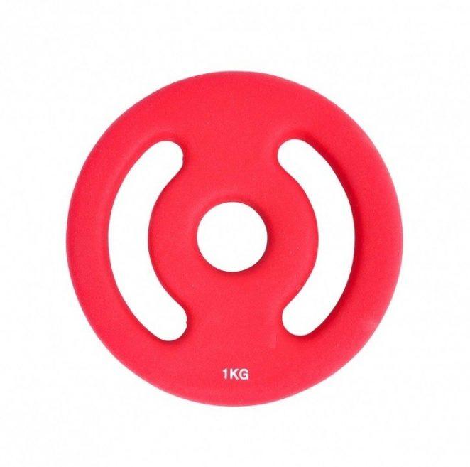 Disco in neoprene rosso 1 kg