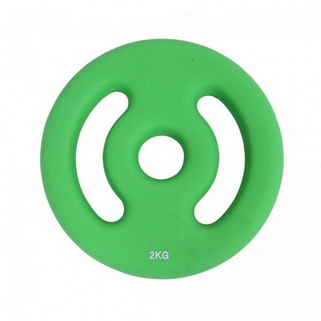 Disco in neoprene verde 2 kg
