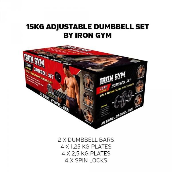 Set Manubri Pesi Regolabili 15kg | Iron Gym®