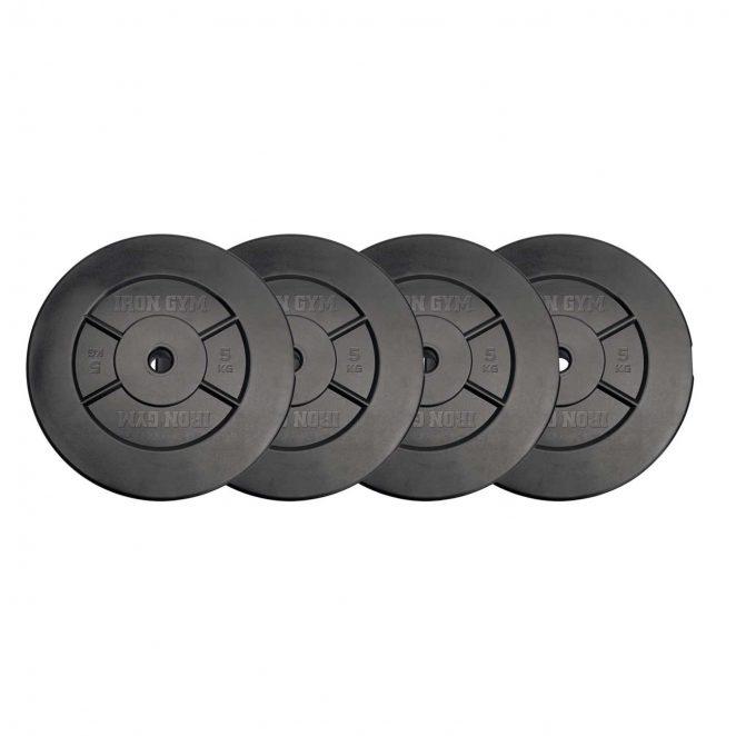 Set di dischi per manubri 20 kg (5kgx4) Iron Gym