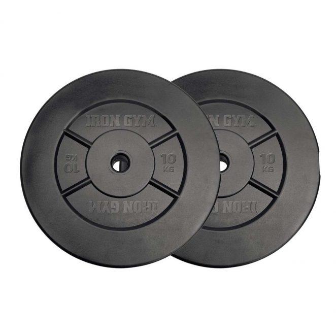Set dischi per manubri 20 kg (10kg x 2) Iron Gym